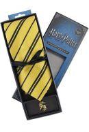 Harry Potter Hufflepuff Kravatti ja metallinen pinssi