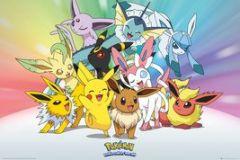 Pokemon Eeveelutions 61 x 91 cm Juliste