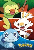 Pokemon Galar Starters 61 x 91 cm Juliste