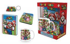 Super Mario Lahjapakkaus (vihko, muki, avaimenperä ja lasinalunen)