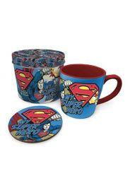 Superman My Super Hero Lahjapakkaus (purkki, muki ja lasinalunen)