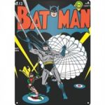Batman Parachute Logo A3 Steel Sign