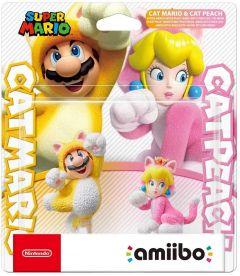 Super Mario Collection Cat Mario & Cat Peach Amiibo 2kpl