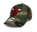 New Era - Chicago Bulls Washed 9forty camo, säädettävä