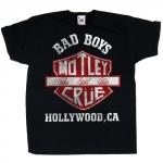 Mötley Crue: Bad Boys Shield Youth T-paita musta koko 9-11 vuotiaalle