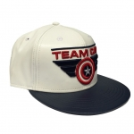 Captain America Civil War Team Cap Snapback Lippis nahkainen