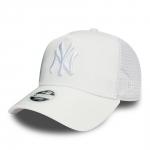 New Era - Naisten NY Yankees 9forty Satin Trucker Snapback Valkoinen