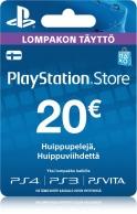 Playstation Store Lompakon Täyttö 20€ PS3/PS4/PSVITA