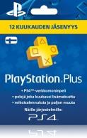Playstation Plus: 12 kuukauden jäsenyys