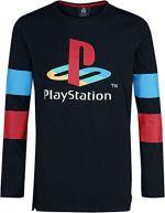 PlayStation Logo & Arms Striped Pitkähihainen T-paita