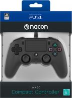 Nacon Wired Compact Controller Musta Peliohjain PS4