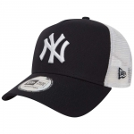 New Era - NY Yankees Clean Trucker Snapback Navy-Valkoinen