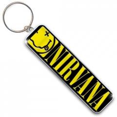 Nirvana Smiley & Logo Avaimenperä