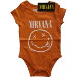 Nirvana White Smiley Baby Grow