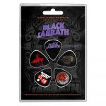 Black Sabbath Purple Logo Plektrasetti 5kpl