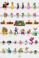 Super Mario Character Parade 61 x 91 cm Juliste