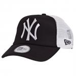 New Era - NY Yankees Clean Trucker Snapback Musta-Valkoinen